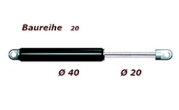 Zu sehen ist eine Abbildung der Gasfeder Baureihe 20