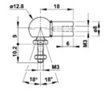 Zu sehen ist eine Abbildung mit einer CAD-Zeichnung von einem Winkelgelenk-WGQ3