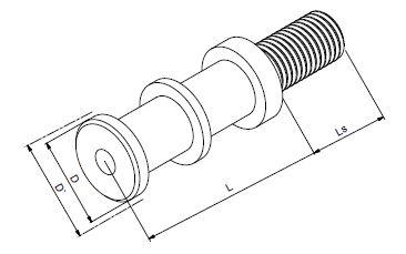 Technische Zeichnung eines OSD Dämpfer mit UV - Schutzlack