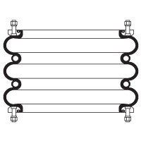 Zu sehen ist ein Vollschnitt des Vollschnitt 3-fach Balgzylinders