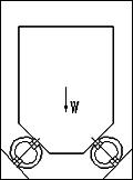 Zu sehen ist eine technische zeichnung des Druck 45°