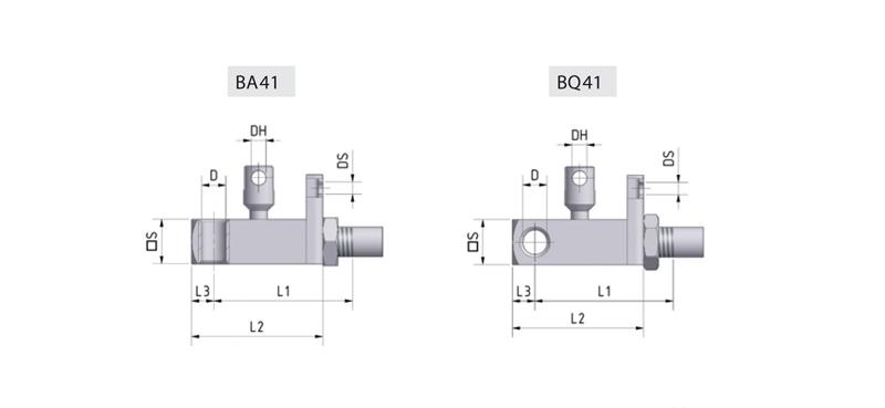 Zu sehen ist eine Abbildung mit Bowdenzugauslösungen für blockierbare Gasfedern