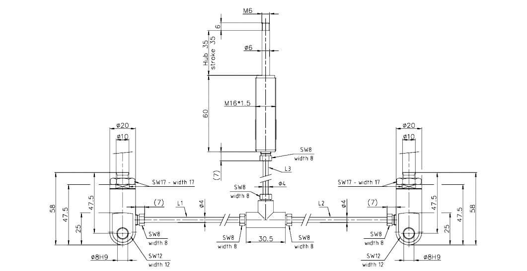 Abbildung von einem EM Ste04 - 1 Auslöser für 2 Gasfedern