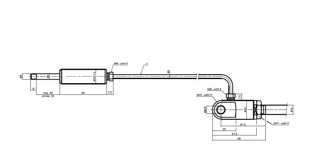 Abbildung von einem EM Set03 - Standardauslösung lang
