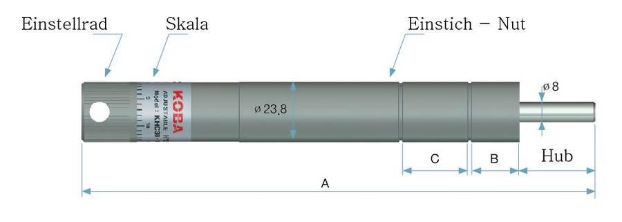 Zu sehen ist eine Abbildung einer Ölbremse der KHC Serie