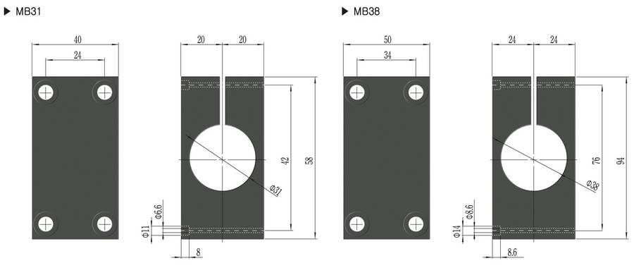 Zu sehen ist eine Abbildung eines Montageblocks der KHC Serie